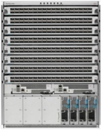 Capability Cisco Nexus 9500 Platform Features and Benefits Benefit Nonblocking, high-density 40 and 100 Gigabit Ethernet spine configuration The Cisco Nexus 9000 Series helps organizations transition