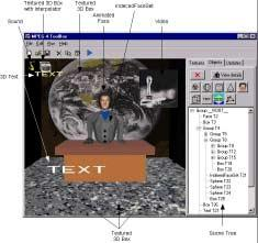 Figure 4: The virtual studio scene in the authoring tool.