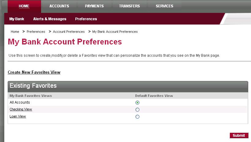 Account Preferences Change Account Preferences The Change Account Preferences page enables you to set preferences specific to each of your accounts in relationship with Business