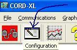 Chapter 5 Using the CORD-XL/Software 30 1. Configuration Window Click on the Configuration button.