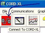 Chapter 2 - QuickStart 5 Run the CORD-XL software and access the Communication, Setup, RS232. Select the COM port used on your computer.