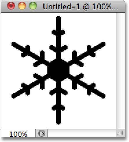 Step 6: Draw A Snowflake When creating a brush in Photoshop, black areas in the document become the brush itself while white areas become transparent, which means that even though snowflakes are