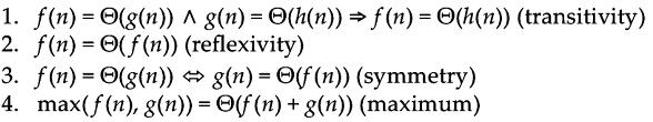 PROPERTIES OF THETA Assume f(n) and g(n) are asymptotically positive.