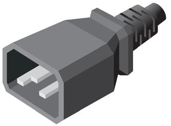 So if a device with an automatic switching power supply is supplied with a 120 V NEMA 5-15P power cord, it may be replaced with a 208 V power cord utilizing an IEC connection.
