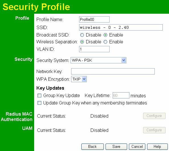 Wireless Access Point User Guide Security Settings - WPA-PSK Like WEP, data is encrypted before transmission. WPA is more secure than WEP, and should be used if possible.