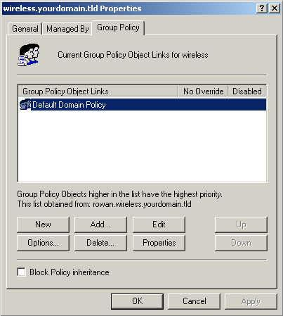 Figure 42: Group Policy Tab 7.
