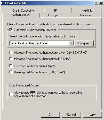 Wireless Access Point User Guide 11. Click Edit Profile... and select the Authentication tab.