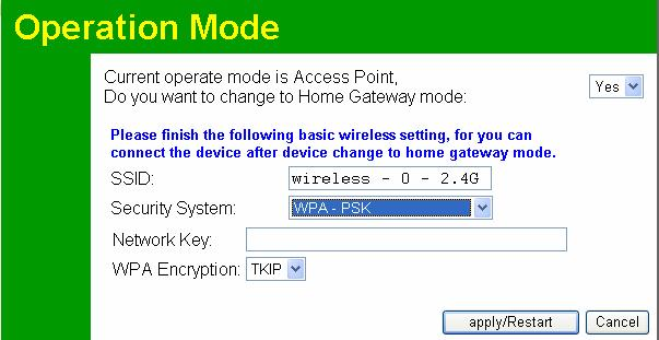 Other Settings & Features Data Security System-WEP Screen WEP Data Encryption Authentication Key Input Key Value Select the desired option, and ensure your Wireless stations have the same setting: 64