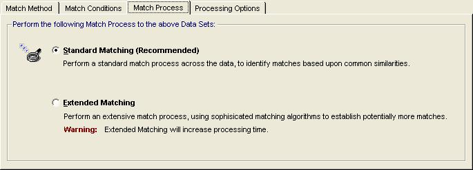 Identifying Matching Data in Microsoft Dynamics CRM Matching Process Use this option if your data is not always complete and you wish to include items that may otherwise not fulfil the criteria.