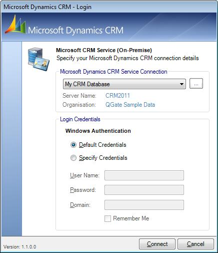 Processing Duplicate Records in Microsoft Dynamics CRM Microsoft Dynamics CRM Database Component Login The component plug-in requires you to log into your Microsoft CRM database via a Web Service