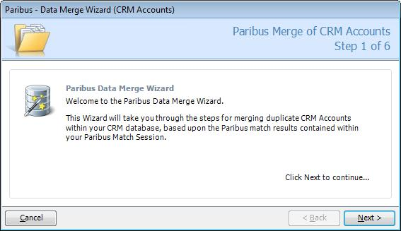 Processing Duplicate Records in Microsoft Dynamics CRM Merging CRM Accounts, CRM Contacts and CRM Leads To begin the process of merging CRM Accounts, Contacts or Leads, following the steps outlined