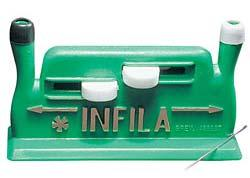 204014 $3.50 Infila Needle Threader Thread large or thin needles automatically. Designed for simple operation and a push of a button.