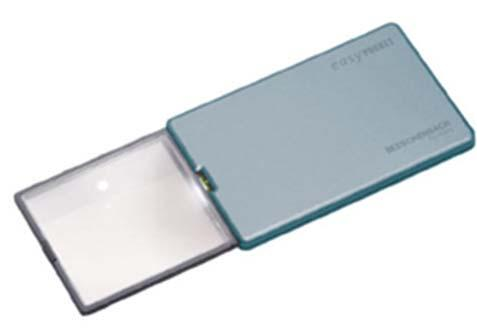 00 Eschenbach Easy Pocket 4x Lighted Slightly thicker than a credit card,