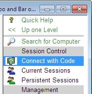 Management Tools section, then you will not be able to view the Session List and so you will need to either obtain an access code from the remote user or use a persistent session that has previously