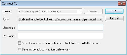 different account names, you may need to select the correct registration in the Access Gateway field in the Connection section of the window.