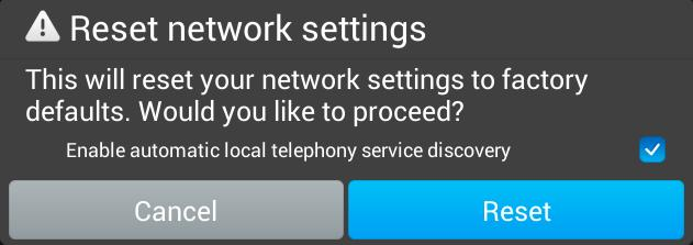 DHCP option 150 is served on local network, uncheck