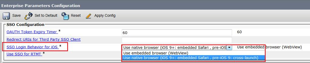 Jabber ios SSO authentication enhancement Allowing Safari browser