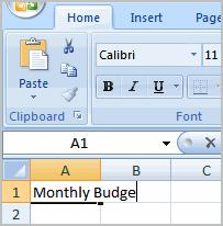 Excel 2007 Lesson 2: Starting a Workbook Page 1 Starting a Workbook You will need to know how to insert text and numbers into Excel workbooks to be able to use it to calculate, analyze, and organize