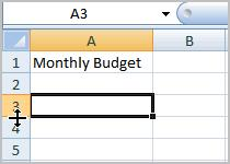 Select Column Width to enter a specific column measurement.
