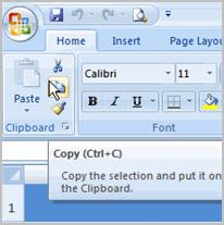 Excel 2007 Lesson 6: Working with Cells Page 1 Working with Cells It is important to know how to move information from one cell to another in Excel.