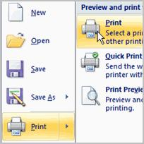 Excel 2007 Lesson 7: Printing Workbooks Page 1 Printing Workbooks In Excel, there are many things you can do to prepare your workbook for printing.