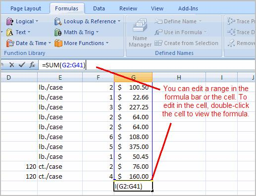 Click the Enter icon. Page 5 To Calculate the Sum of Two Arguments: Select the cell where you want the function to appear.