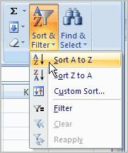 Sorting lists is a common spreadsheet task that allows you to easily reorder your data. The most common type of sorting is alphabetical ordering, which you can do in ascending or descending order.