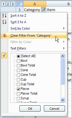 To remove all filters, click the Filter command. Filtering may look a little like grouping, but the difference is that now I can filter on another field, if I want to.