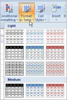 Left-click a table style to select it. A dialog box will appear.