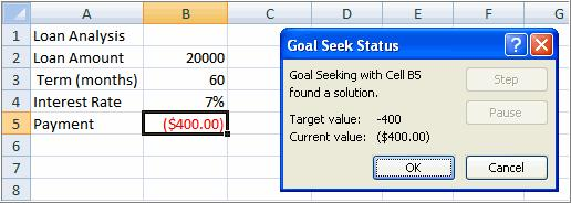 Select the cell that you want to change. This will be the cell that tries various input values. In this example, select cell B4, which is the interest rate. Click OK. Then, click OK again.