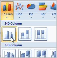 Excel 2007 Lesson 16: Working with Charts Page 1 Working with Charts A chart is a tool you can use in Excel to communicate your data graphically.
