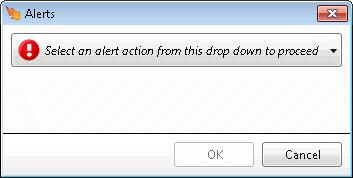 Cancel Closes the dialog without saving changes. Add/Edit Alert Action dialog This dialog selects the action performed when the alert condition is met.