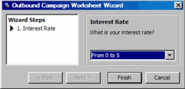 You can click Wizard Steps to preview each question or click Next. 16 Click Apply or Save. Exporting Worksheets You can export the worksheet to use it in another campaign.
