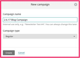 Here are the action items you ll take to send out that first email campaign : Action Item #1: Create a new campaign.