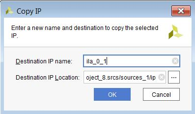 Chapter 2: IP Basics To copy an IP, in IP Sources, select the IP, right-click and select Copy IP. Then provide a destination name and location for the copy, as shown in the following figure.