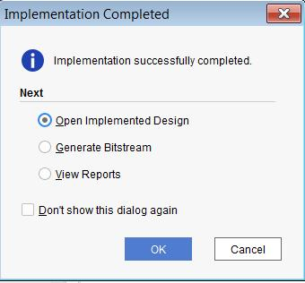 Chapter 4: Using IP Example Designs Examining Standalone IP When using an IP that has already been synthesized, after implementation completes, the Implementation Completed dialog box opens to give