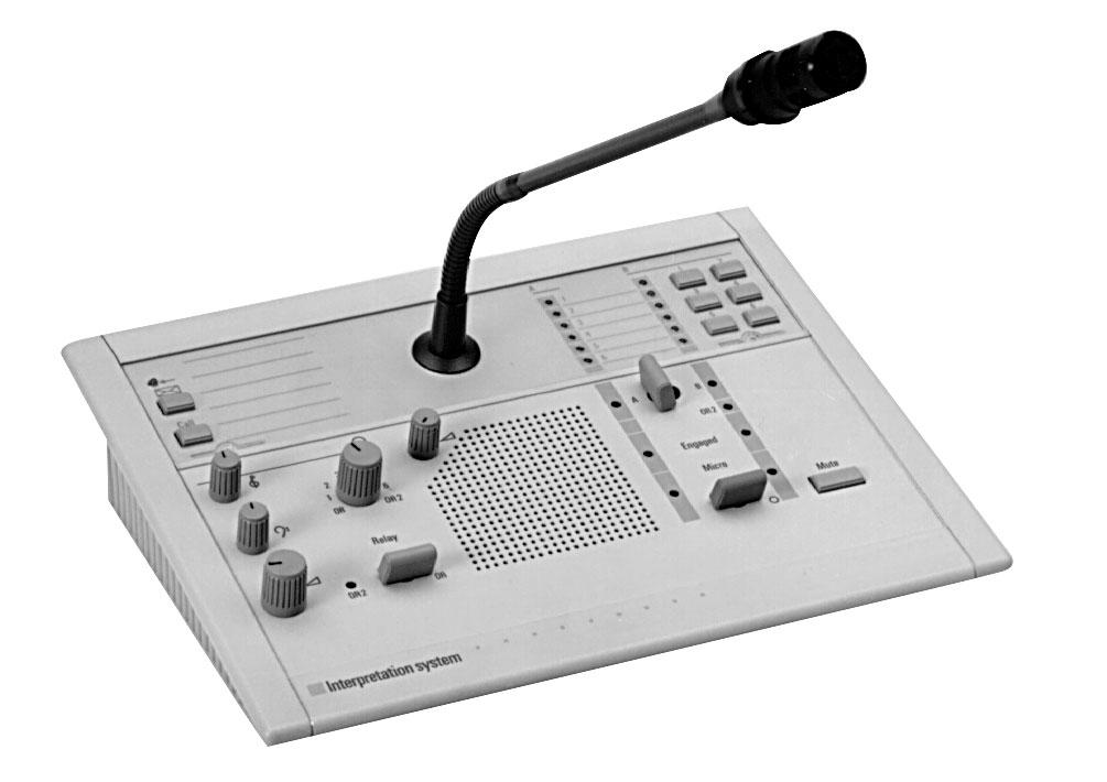6-Channel Interpreter Desk with Loudspeaker LBB