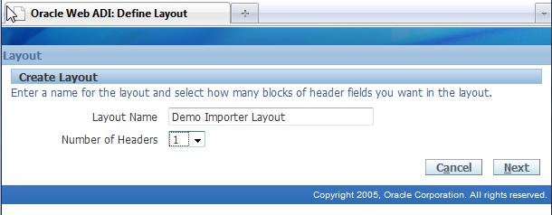 Layout fields will be displayed in two groups: required and optional