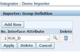 Import Rule: Interface Attribute Mapping This mapping is the set of interface columns, or attributes, that uniquely identify each uploaded row.