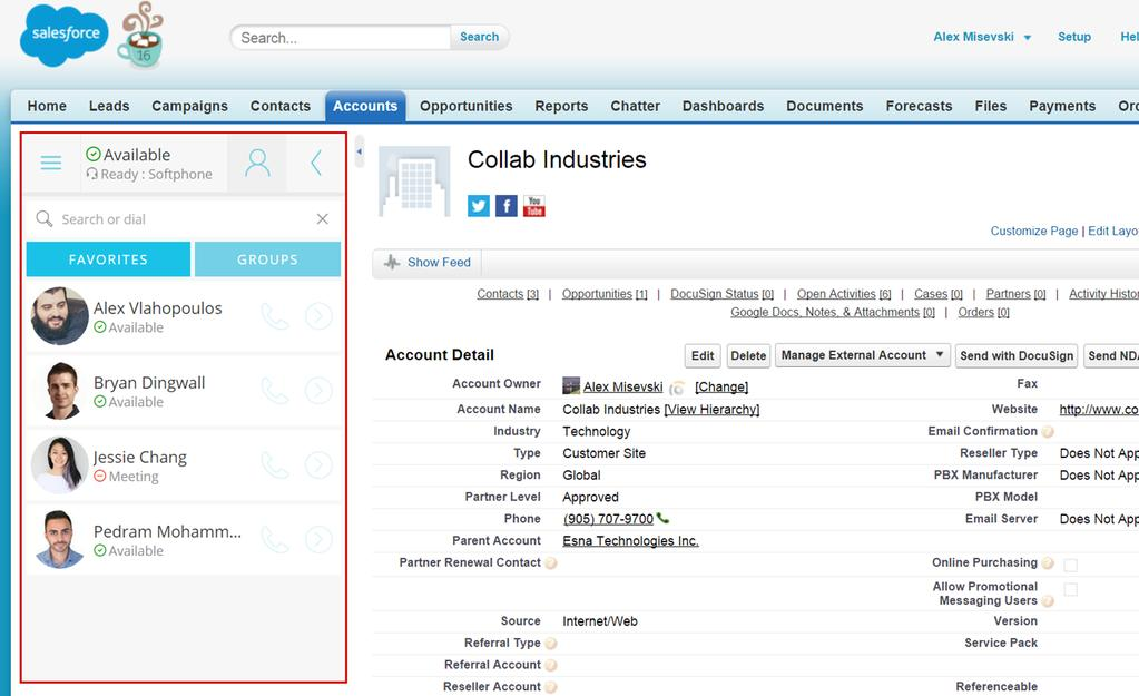 screen pops in Salesforce and the