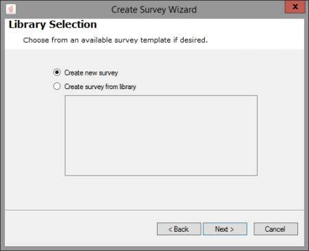 3. On the Create Survey Wizard Welcome page,