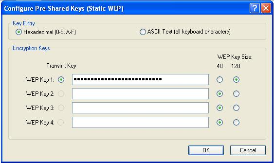 Step 3 Configure WEP on PC2 using the client adapter utility In order to configure the WEP settings on the wireless client adapter, complete the following steps: a.