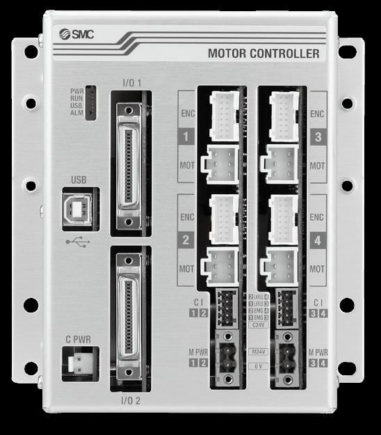 4 Axis Step Motor Controller Series JXC73/83 System Construction Provided by customer PLC Provided by customer. For details, refer to the WEB catalog.