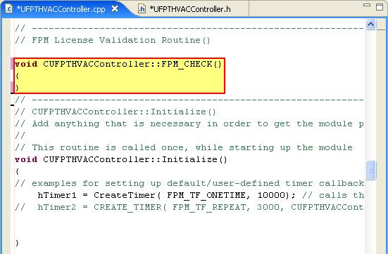 For example, the following macro could be defined for the license validation routine created in step 2.