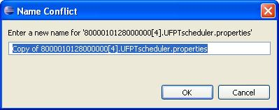 2. Re-name the copy by deleting the Copy of pre-fix and inserting the <_language[_region] [_variant]> suffix between the name of the embedded application and the.properties extension.
