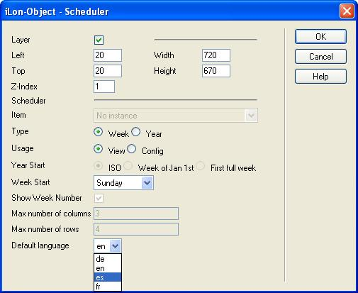Configure the application object to fit the functionality provided by your custom SmartServer Web page.