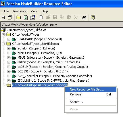 b. The New Resource File Set dialog opens. c.