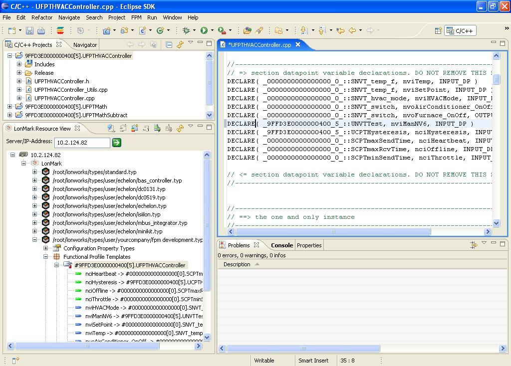 Manually Importing Individual Data Point Declarations In the source file (.