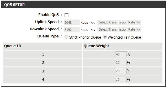 It supports two kinds of queuing mechanisms. Strict Priority Queue (SPQ) and Weighted Fair Queue (WFQ). SPQ will process traffic based on traffic priority.