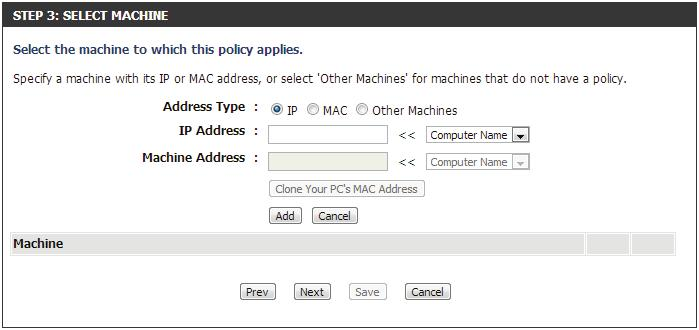 Machine Address - Enter the PC MAC address (i.e. 00:00.00.00.00).